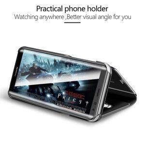 FinestBazaar (Huawei P30, Purple) New Luxury Smart View Mirror Flip Stand Case Phone Cover Fo