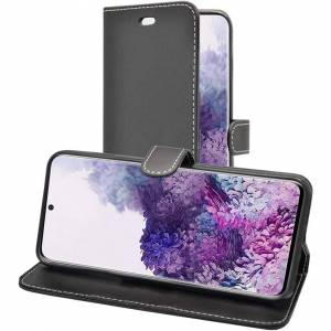 Samsung For Samsung Galaxy S20 Ultra 5G Black Wallet Flip PU Leather Case Cover