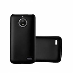 Cadorabo (METALLIC BLACK) Cadorabo Case for Motorola MOTO E4 case cover