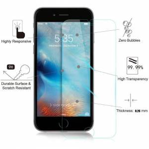 MaxTeck [3 Pack] iPhone 8 Plus 7 Plus Screen Protector, 0.26mm 9H Tempered Glass