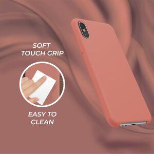 FinestBazaar iPhone Xs / X Liquid Silicone Gel Rubber Shockproof Case with Soft Microfibre Li