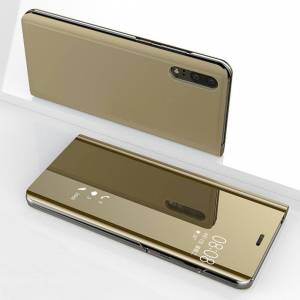FinestBazaar (Huawei P10, Gold) New Luxury Smart View Mirror Flip Stand Case Phone Cover For