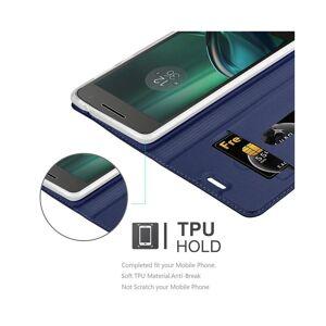Cadorabo (CLASSY DARK BLUE) Cadorabo Case for Motorola MOTO G4 PLAY case cover