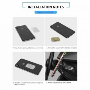Custom Whip Styling Samsung Galaxy S20 Gray Magnetic Phone Holder Dash Bracket 6 Magnet Bar