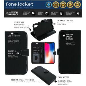 FONEJACKET (BLACK) For Motorola Moto G9 Power Phone Case, Cover, Flip Book, Wallet, Folio,