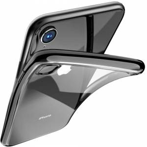 fonefunshop Clear Silicone Case With Black Edge For iPhone X / Xs