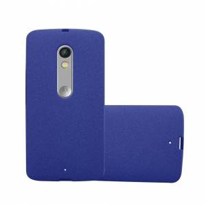 Cadorabo (FROST DARK BLUE) Cadorabo Case for Motorola MOTO X PLAY case cover
