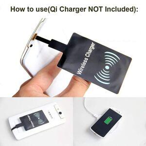 Custom Whip Styling Motorola Moto E6 Plus Micro USB Universal Wireless Qi Charging Receiver Card Coi