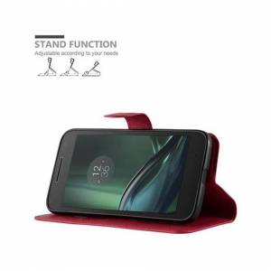 Cadorabo (CARMIN RED) Cadorabo Case for Motorola MOTO G4 PLAY case cover
