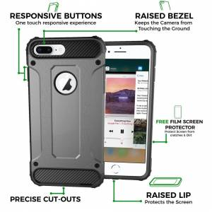FinestBazaar iPhone 6 / 6s Case Rugged Tough Dual Layer Armor Protective Shockproof Heavy Dut