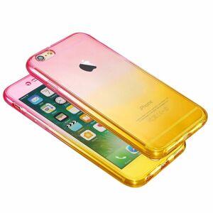 FinestBazaar (Pink/Yellow, For Apple iPhone 5s) Hybrid 360° New Shockproof Case TPU Gel Skin