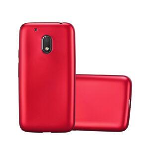Cadorabo (METALLIC RED) Cadorabo Case for Motorola MOTO G4 PLAY case cover