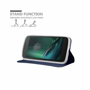 Cadorabo (CLASSY DARK BLUE) Cadorabo Case for Motorola MOTO G4 PLAY case cover
