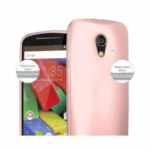 Cadorabo (METALLIC ROSE GOLD) Cadorabo Case for Motorola MOTO G2 case cover
