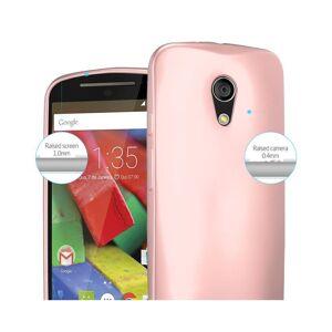 Cadorabo (METALLIC ROSE GOLD) Cadorabo Case for Motorola MOTO G2 case cover