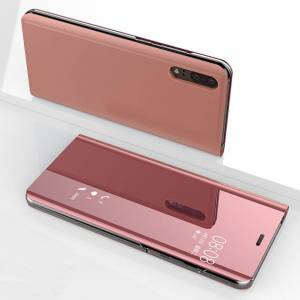 FinestBazaar (Huawei Mate 20 Pro, Rose Gold) New Luxury Smart View Mirror Flip Stand Case Pho