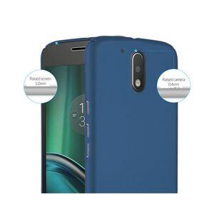 Cadorabo (METAL BLUE) Cadorabo Hard Case for Motorola MOTO G4 / MOTO G4 PLUS case cover