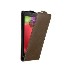 Cadorabo (COFFEE BROWN) Cadorabo Case for Motorola MOTO E4 case cover