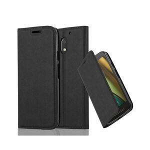 Cadorabo (NIGHT BLACK) Cadorabo Case for Motorola MOTO E3 case cover