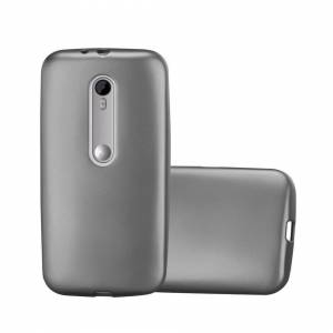 Cadorabo (METALLIC GREY) Cadorabo Case for Motorola MOTO G3 case cover