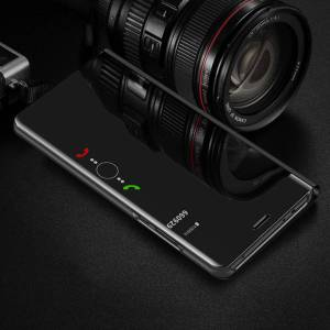 FinestBazaar (Huawei P Smart (2017), Purple) New Luxury Smart View Mirror Flip Stand Case Pho