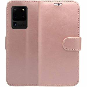 Samsung Case For Samsung Galaxy S20 Ultra 5G Rose Gold Wallet Flip PU Leather Cover