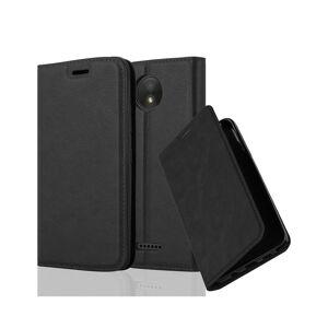 Cadorabo (NIGHT BLACK) Cadorabo Case for Motorola MOTO C PLUS case cover