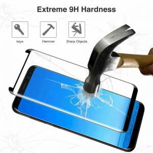 Unbranded (For Samsung S20 Plus, BLACK) Tempered Glass Screen Protector