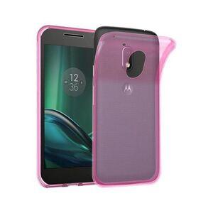 Cadorabo (TRANSPARENT PINK) Cadorabo Case for Motorola MOTO G4 PLAY case cover