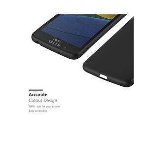 Cadorabo (METALLIC BLACK) Cadorabo Case for Motorola MOTO G5 case cover