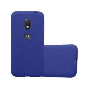 Cadorabo (FROST DARK BLUE) Cadorabo Case for Motorola MOTO G4 PLAY case cover