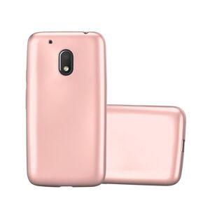 Cadorabo (METALLIC ROSE GOLD) Cadorabo Case for Motorola MOTO G4 PLAY case cover