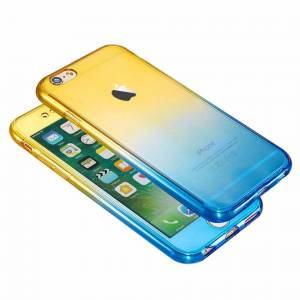 FinestBazaar (Yellow/Blue, For Apple iPhone 6) Hybrid 360° New Shockproof Case TPU Gel Skin C