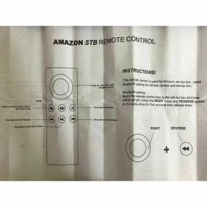 Perfet Replace For Amazon CV98LM Firestick Bluetooth Fire TV Stick Remote Control