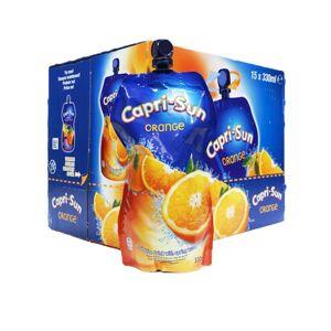 KRISP 15 x 330ml Capri Sun Orange Fruit Juice Vegan Lunch Drink Spring Water