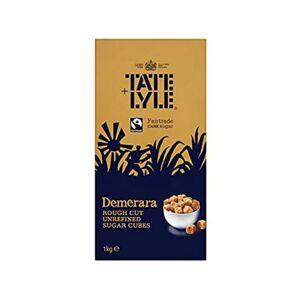 Tate & Lyle 2 x Tate & Lyle Demerara Rough Cut Sugar Cubes 1 kg Boxes