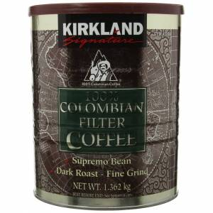 Kirkland Signature - 100% Colombian Filter Coffee Supremo Bean Dark Roast Fine G