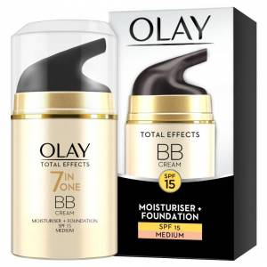 Olay 7-in-1 Total Effects Anti-Ageing BB Cream SPF15 for Medium Shade, Fights Th