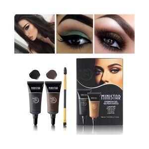 Unbranded Black Brown Henna Eyebrow Gel Tint Long Lasting Eye Brow Tattoo Cream 2PCS Eyebr