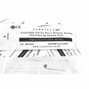 CRYSTALUM (9pin, 20) 0.25mm Microblading Blades Needles CRYSTALUM Microblading Supplies UK