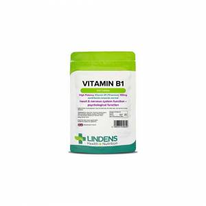Lindens Vitamin B1 Thiamin 100mg Tablets   100 Pack   Super-strong 7000% NRV tab