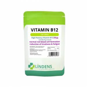 LINDENS (1 Pack - 100 Tablets) Lindens Vitamin B12 250mcg 100 Tablets High Potency 1-a-d