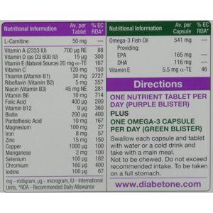Vitabiotics Diabetone Plus - 56 Tablets/Capsules