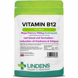LINDENS Vitamin B12 1000mcg Sublingual - 100 Tablets