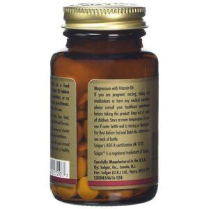 Solgar Magnesium with Vitamin B-6 Tablets - 100 tablets