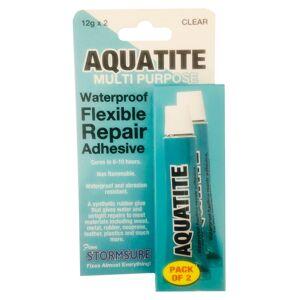 Stormsure Aquatite Waterproof Flexible Repair Adhesive 12g Tube (Pack of 2)