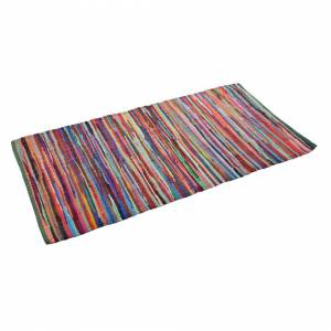 Allure Home Fashions (60 x 180cm) Allure Handmade Chindi Rag Rug from Recycled Fabrics