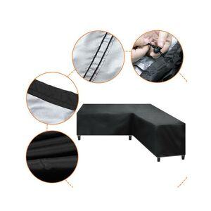 Unbranded (270*270x90cm) L Shape Waterproof Rattan Corner Furniture Cover Garden Patio Out