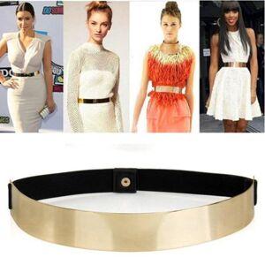Unbranded Sexy Lady Gold belt for Women Elastic Mirror Metal Waist Belt Metallic Bling Pla