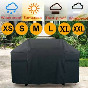 Unbranded (M?100*60*150cm) BBQ Cover Heavy Duty Waterproof Rain Barbeque Grill Gas Garden